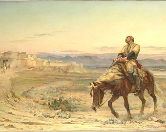 Remnants of an Army 11x14 Canvas Print Lone soldier on horseback