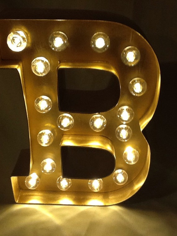 8 lighted marquee sign letters choose any by. Black Bedroom Furniture Sets. Home Design Ideas