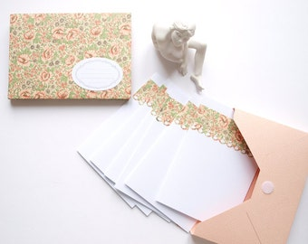 Stationery box poppies with 6 envelopes and 6 cards