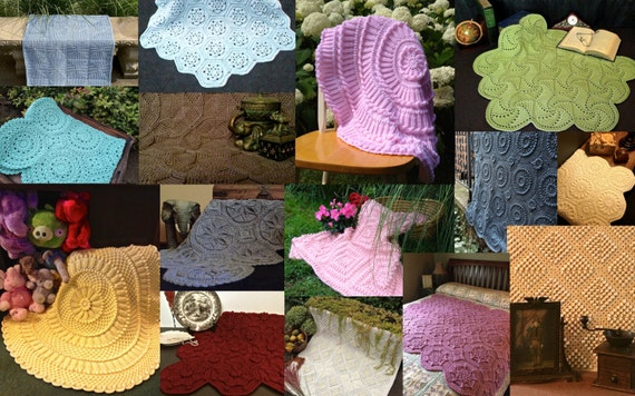 Matelasse Crochet Afghan Pattern Collection-Etsy