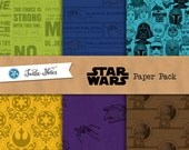 Star Wars Paper Pack : 36 Printable Digital Scrapbook Papers