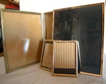 vintage gold frames-wedding-baby-school-ancestors-table decor-piano-retro-