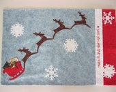 Sleigh and Reindeer Pillowcase
