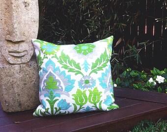 Santa Maria Outdoor Cushions, Outdoor Pillows Desert a Flower Green Outdoor, Blue, Turquoise, Outdoor Scatter Cushions Modern Retro Pillows
