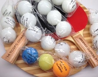Set of 2 PERSONALIZED / CUSTOM Ping Pong Paddles & 24 Ping Pong/Table Tennis Balls-High Quality, Game Ready