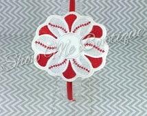 Baseball Flower Headband Slider design Instant Download