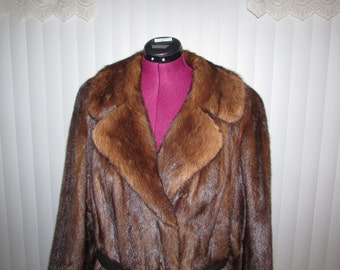 Beautiful Chocolate Mink Natural Sable Fur Coat