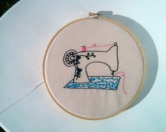 Hand Embroidery Pattern // Singer Featherweight