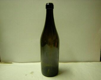 old wine bottle-brown-bar-man cave-i liter-shelf display-
