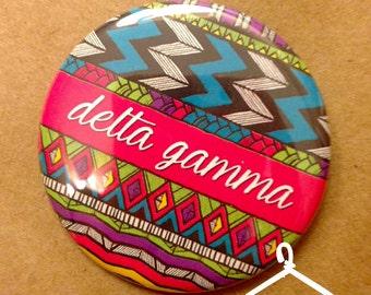 Delta Gamma Aztec Button or Magnet