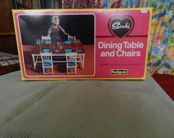 CLEARANCE SALE-Vintage Toy-Dining Table and Chairs-Rare&Collectable Sindy's Pedigree-Complete Spare Pieces-Sindy 44527-Sindy's Sideboard