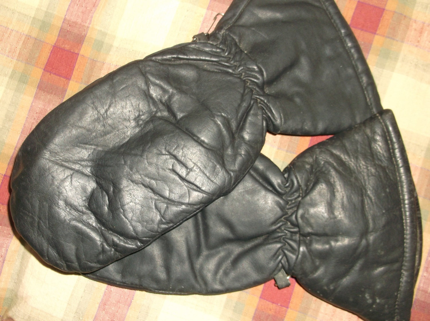 Sale/Leather Chopper mittens /Gloves by OldandDear on Etsy