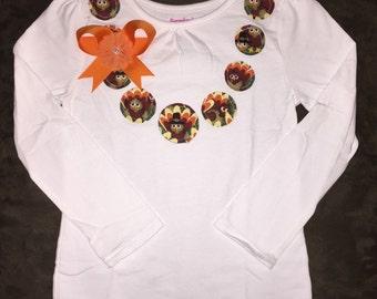 Chunky Fabric Bead Necklace Shirt