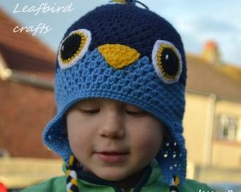20 % OFF ! SALE! CLEARANCE ! Handmade Crochet Bird hat, Boy hat, Character Hat, Animal hat