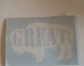 2x Great white buffalo decal