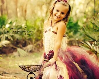 Berry Flower Girl Dress