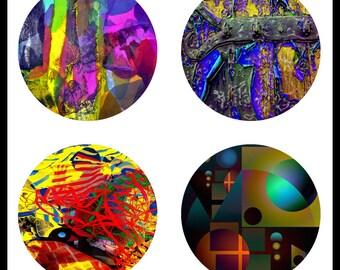 Jeweled Designs - Digital Download Sheets - Digital Collage Sheet - 30mm Designs - Pendants - Art Pendants - Pendant Art - DDP570