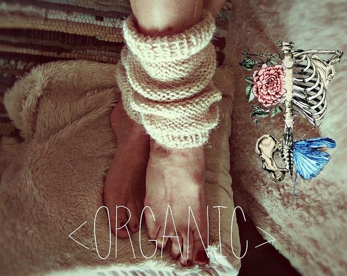 Raw Wool Ankle Boot Cuffs - Hipster Leg Warmers - Orgaic Boot Socks - Boho Hippie Leg Warmers - Bohemian Winter Wear - Custom Colors