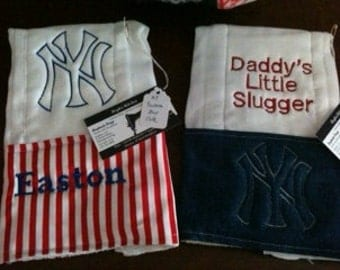 New York Yankees burp cloths