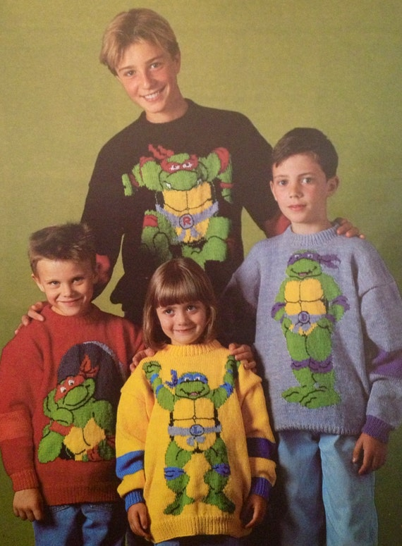 Knitting Patterns For Childrens Characters : teenage mutant ninja turtles knitting pattern child to ...