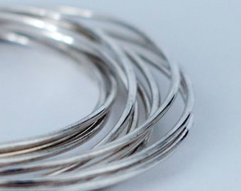 Silver Plated Linked Bangles