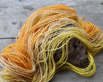 Orange or lemon - handspun merino yarn