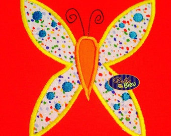 Adorable Butterfly Embroidery Applique Design