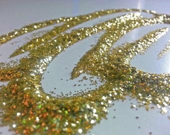 glitter - light gold fine polyester