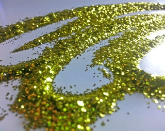 glitter - chartreuse fine polyester