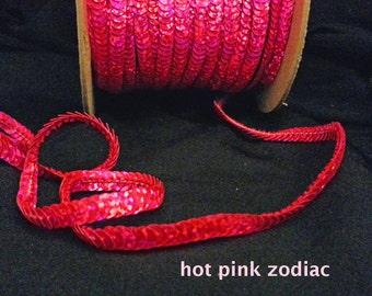 hot pink zodiac (hologram) sequin trim--non-stretch and stretch