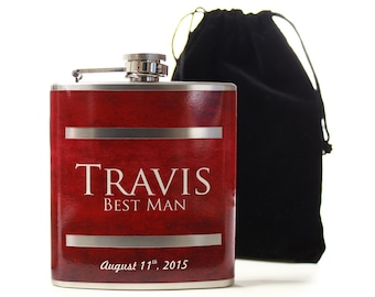 Personalized Wedding Party Gifts, Custom Flasks for Groomsmen
