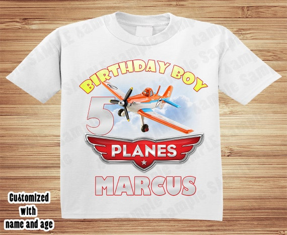 Planes Birthday T Shirt - Personalized Custom -  Disney, dusty, chug, dottie, airplane