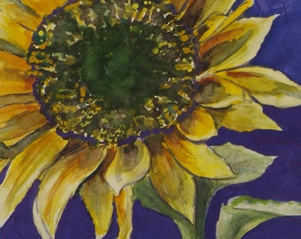 "This is a print of my original watercolor painting titles ""Sun Burst"".   5 x 7, 8 x 10, 11 x 14,16x20, wrapped canvas,  note cards"