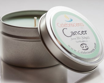CANCER Zodiac Sign Scented Soy Candle is a mystical, reliable scent with notes of sandalwood reflecting the strength of Cancer's friendship.
