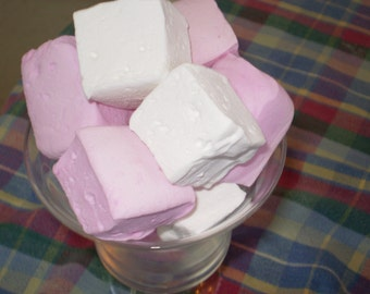 Vanilla Bean Marshmallows pink and white baby shower bridal wedding favors dessert candy buffet princess birthday party