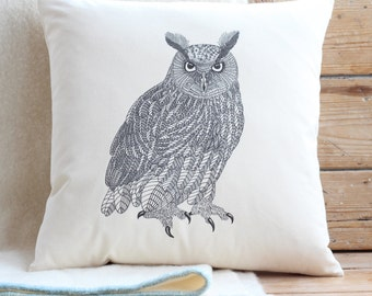 Eagle Owl Cushion Cover