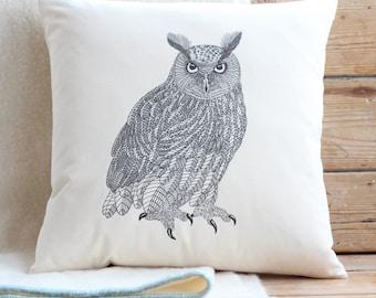 Eagle Owl Cushion Cover