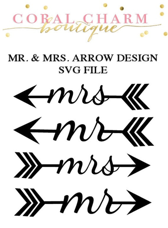 Items Similar To Mr Amp Mrs Arrow Designs Svg File On Etsy