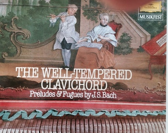 The Well-Tempered Clavichord -Preludes and Fugues by JS Bach- Ralph Kirkpatrick -Vinyl Record