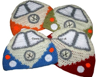 Volkswagen Inspired Hand Crocheted VW Hat