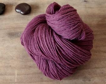 Purple Cochineal Sock Yarn, Naturally Dyed, Hand Dyed Yarn, Deep Purple Merino Yarn, Plum Yarn, Superwash Merino, Cochineal Natural Dyes