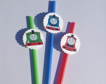 Thomas and Friends  Birthday Party Straws