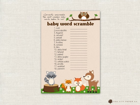 ... Baby Shower Baby Word Scramble Game, Baby Word Scramble, Printable