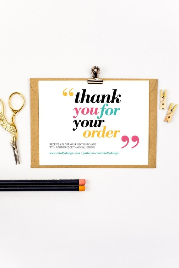 Printable Thank You Cards Instant Download Happily Quoted