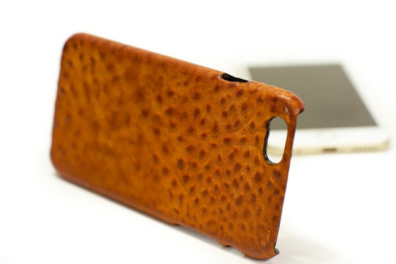 "iPhone 6 Leather Case Washed Leather Aged to use as protection for 4.7"" & PLUS 5.5"" col BRANDY"