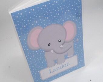 boy photo album personalized Grandmas brag book baby photo album newborn baby shower gift 4x6 or 5x7 elephant 218