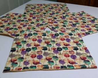 Wine Print Placemats