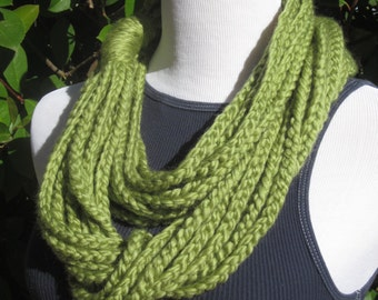 Clearance Sale...Crochet Chains Infinity Scarf, Crochet Chains cowl, Crochet Chains Necklace