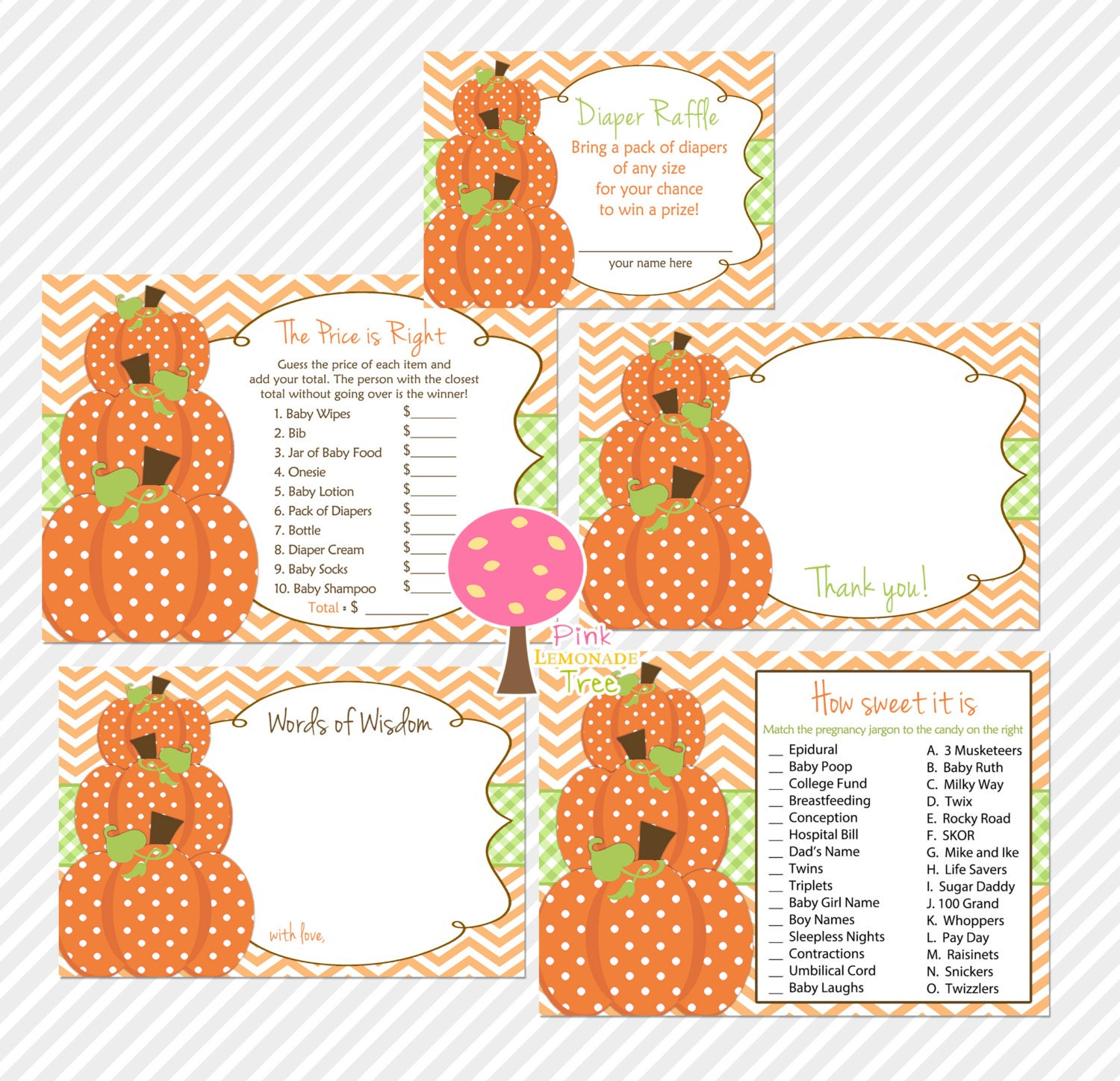 Sweet Sweet Baby Baby Shower Game: Pumpkin Baby Shower Games How Sweet It Is The Price Is