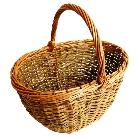 Basket Weaving Kits : Make this oval willow ping basket a weaving kit for